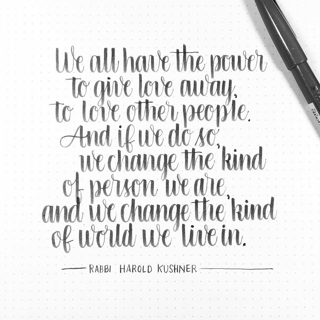 Loving one another and being kind will make you thehellip