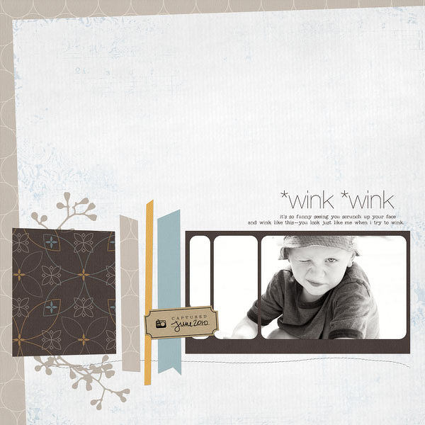 Digital Scrapbook Page - *wink *wink