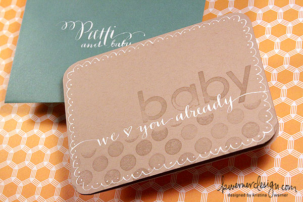 Calligraphy Baby Card + Envelope