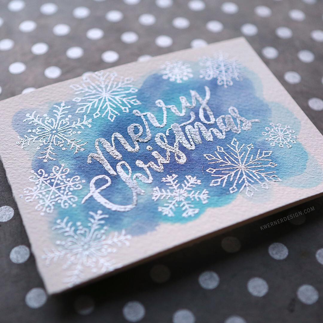 I was curious about heat embossing brush lettering so Ihellip