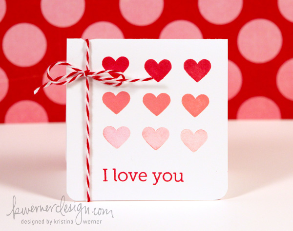 Friday Focus Valentines Day Card 6 kwernerdesign blog – Simple Valentines Day Cards