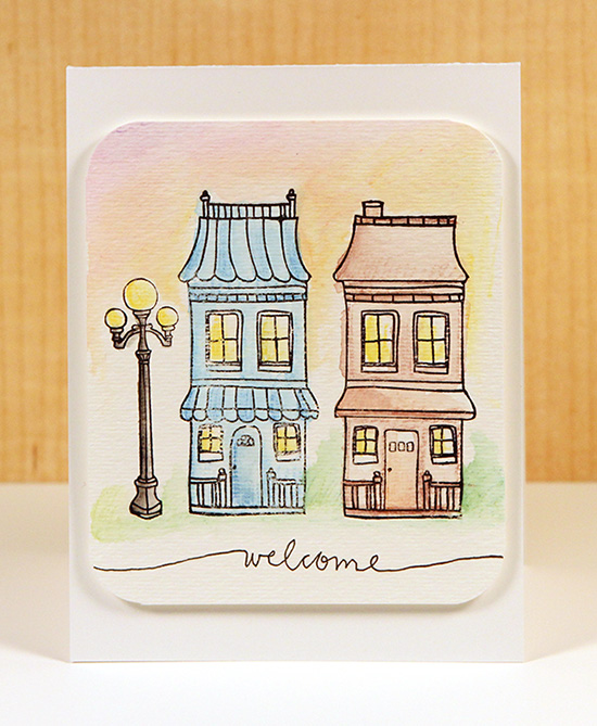 Welcome Watercolor Card