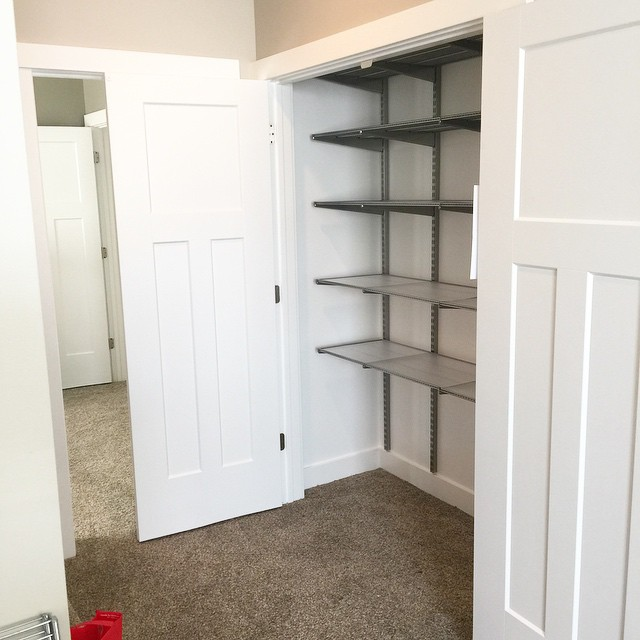 Yay! Elfa closet installation from thecontainerstore is under way! Inhellip
