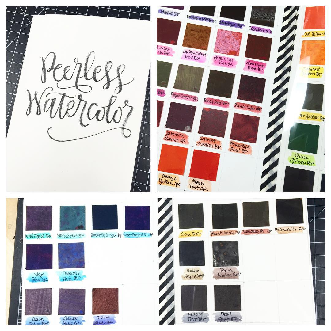 Created a DIY Peerless watercolor swatch bookpalette last night Usedhellip