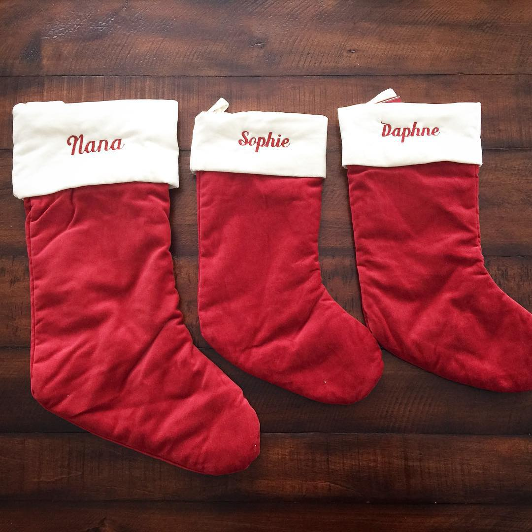 Three new Christmas stockings just arrived in the mail hellip