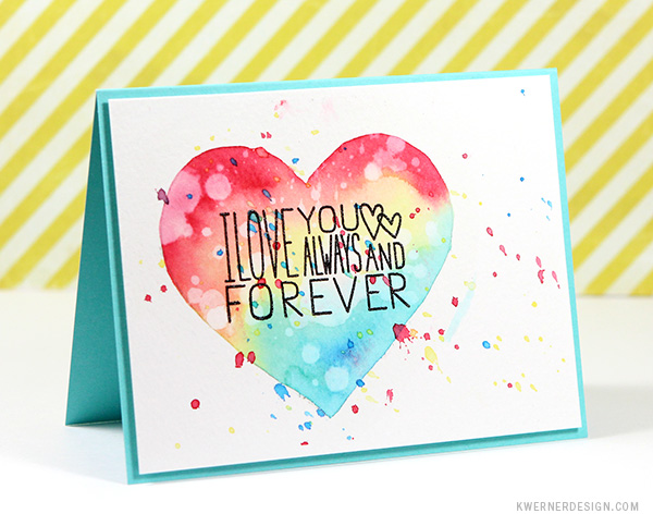 Custom Card Template make a card : Masked Watercolor Heart Cards u2013 Make a Card Monday #270 ...
