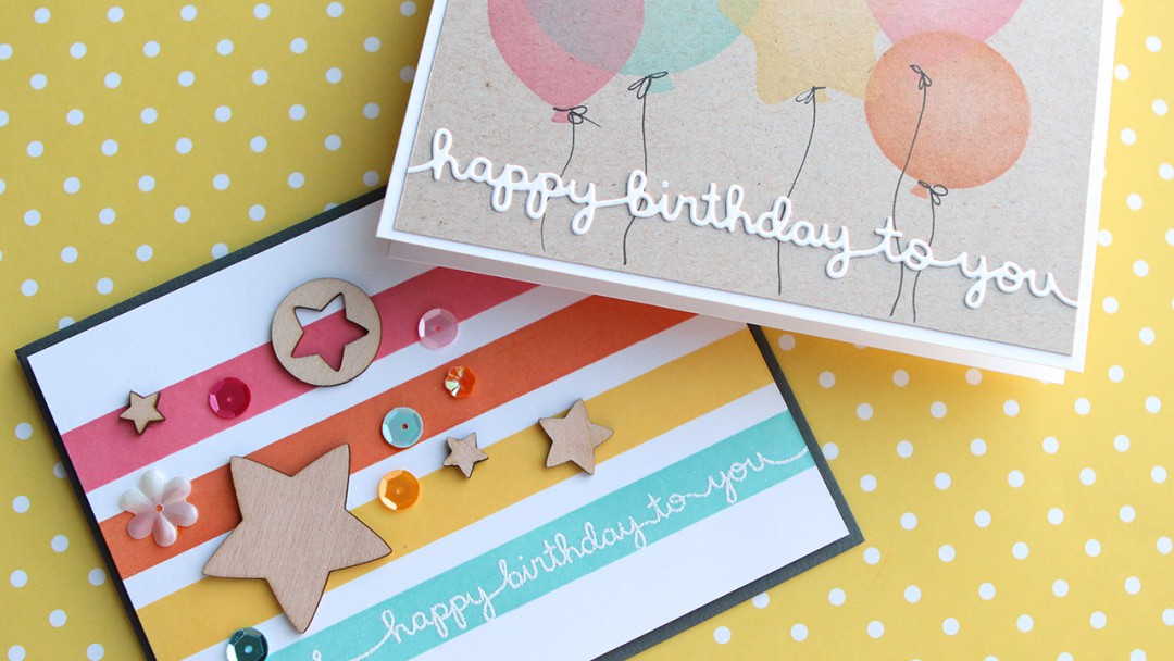 Masking DIY Stencil Birthday Cards Make A Card Monday 272 Kwernerdesign Blog