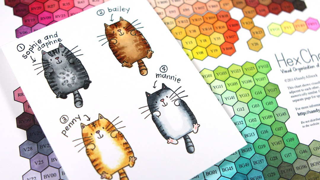 What Color Is Your Cat Coloring Cats With Copic Markers Plus Hex