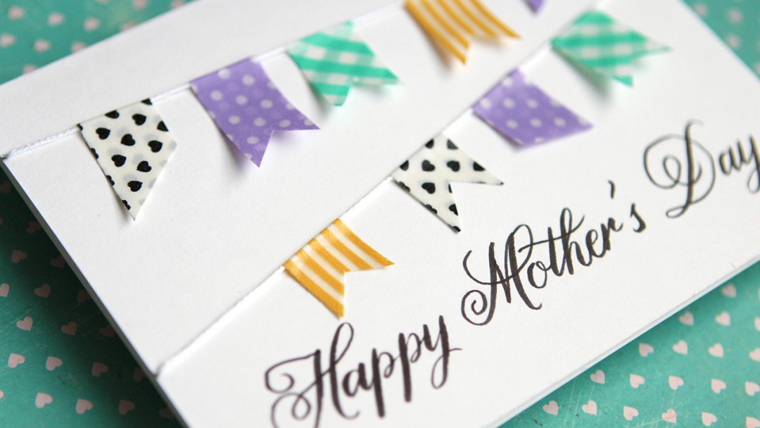 Simple Diy Mother S Day Card No Stamping