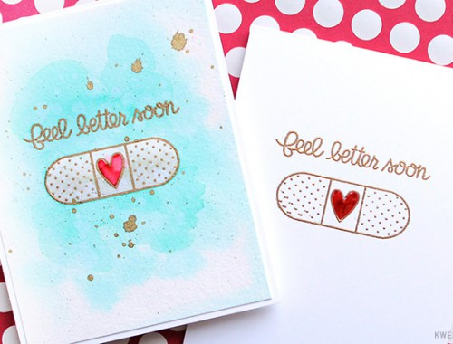 Watercolored Get Well Cards