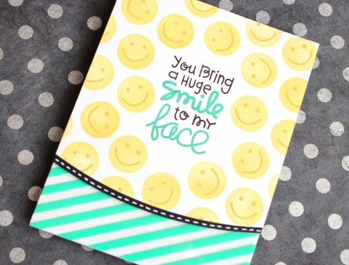 Smiley Face Card (ft. Paper Smooches stamps)