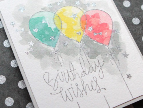 Distress Ink Watercolor Birthday Card