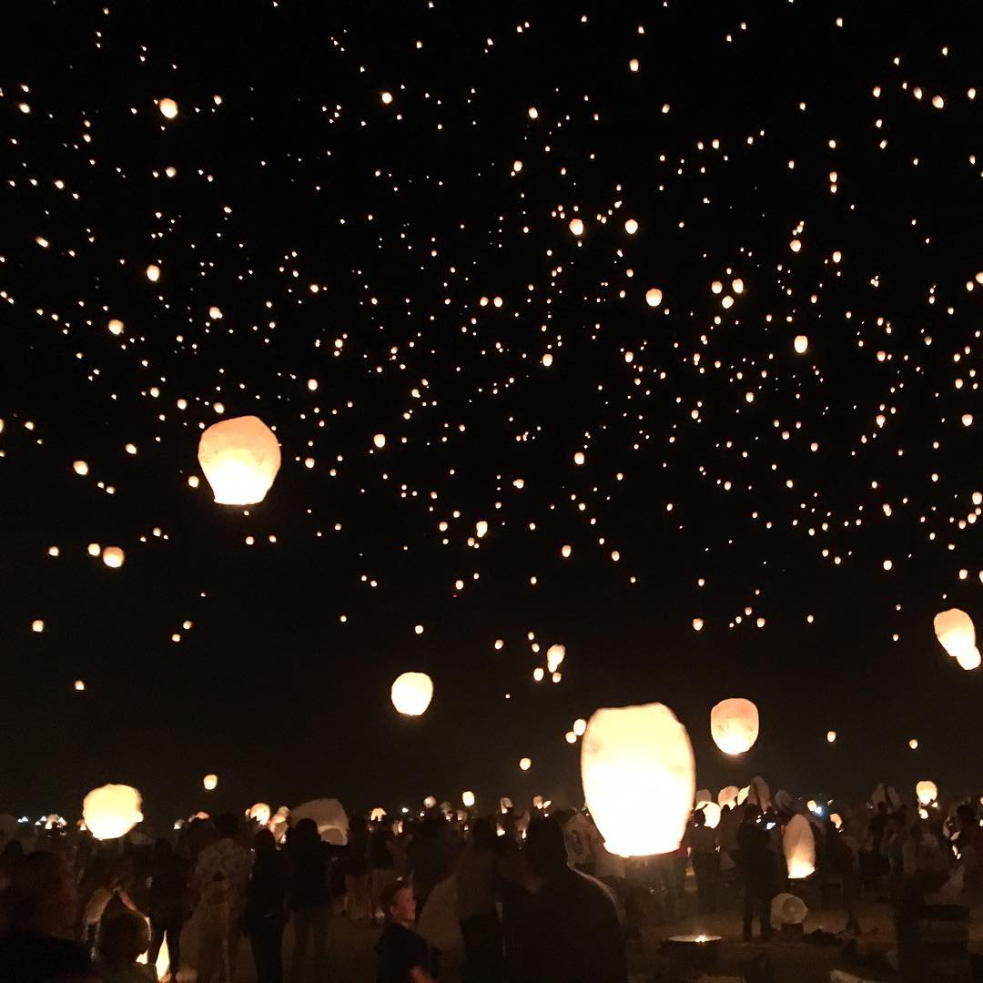 Over 7000 lanterns filled the sky tonight at lanternfest Sohellip
