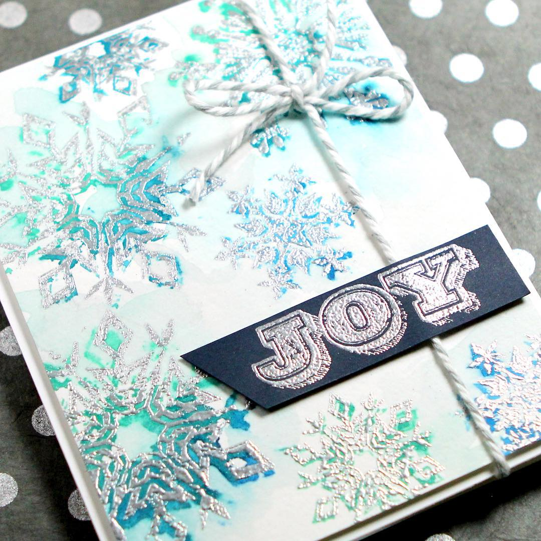 Watercolor stamping with timholtz stamps in todays Holiday Card Serieshellip