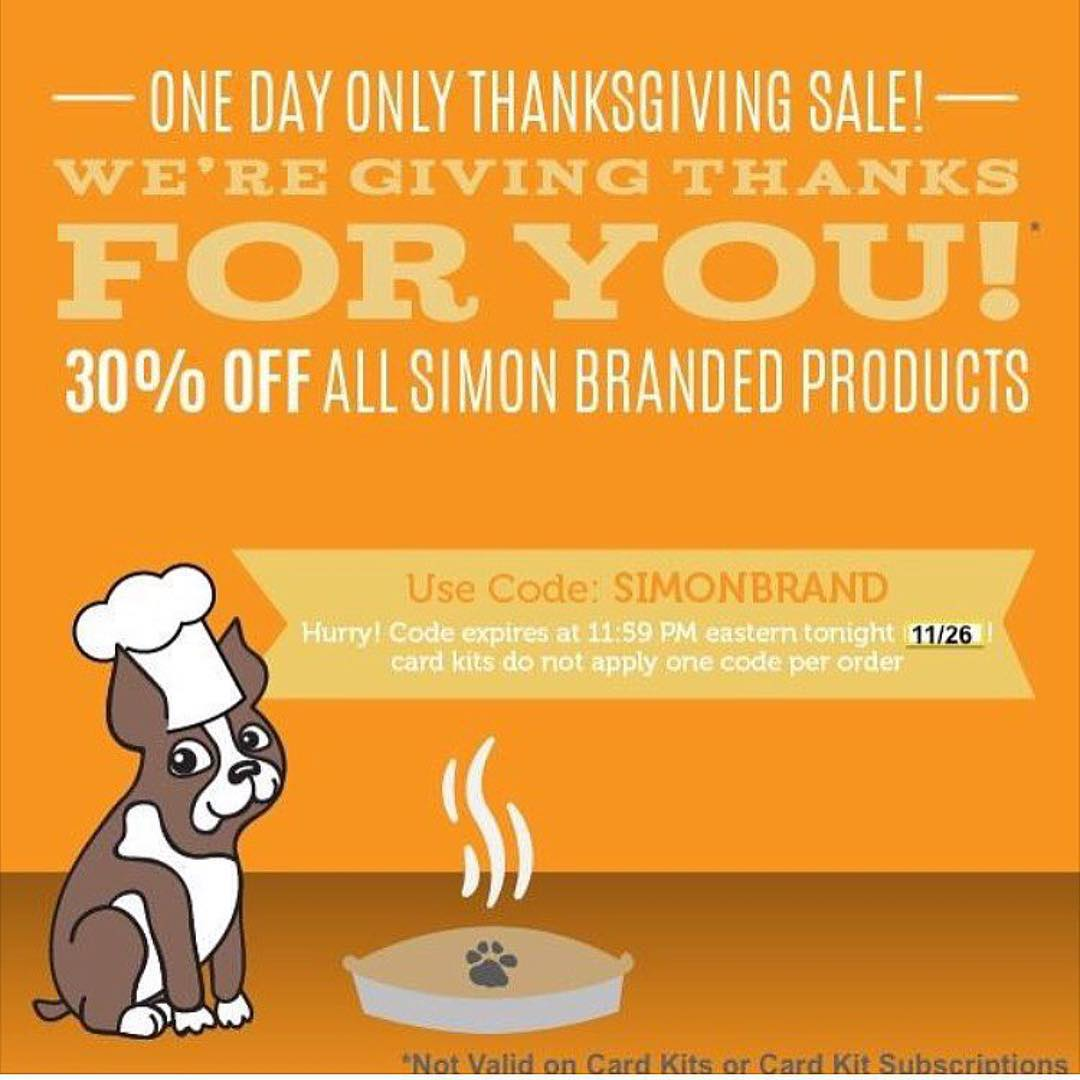 Repost simonsaysstamp  Happy Thanksgiving! We are grateful for YOU!hellip
