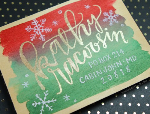 Holiday Card Series 2015 - Day 18 - Hand Lettered envelope