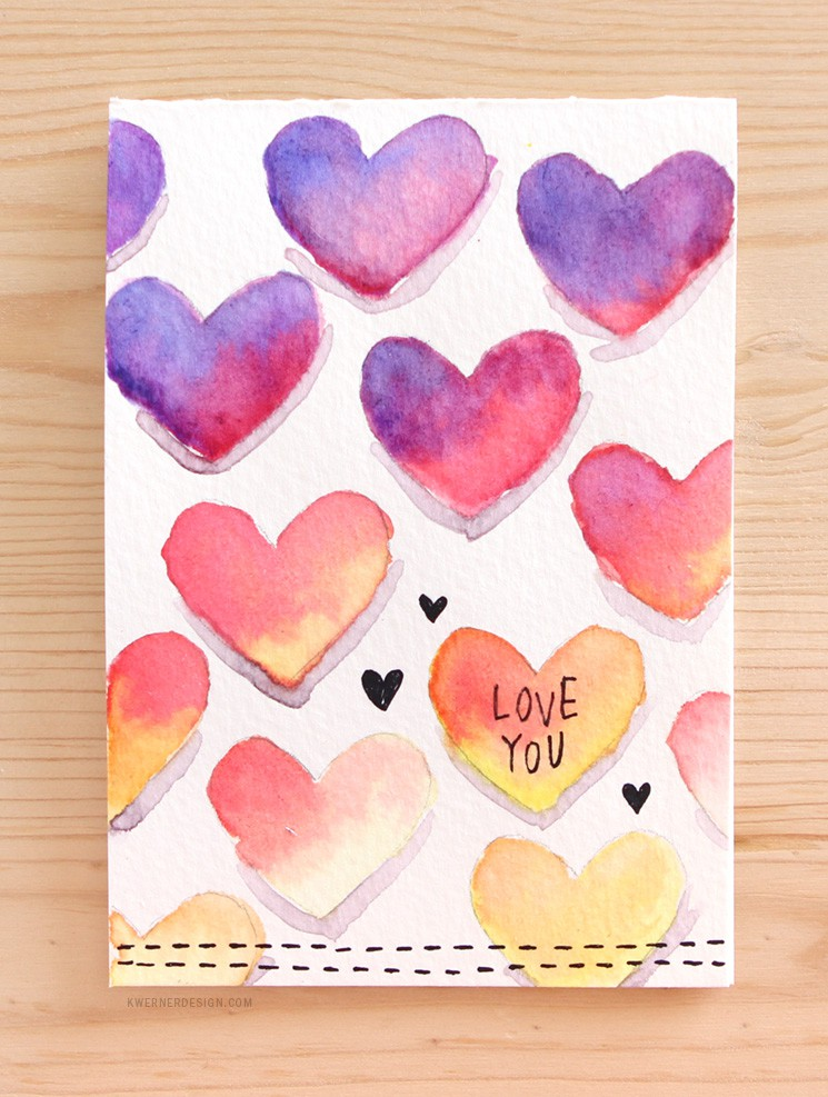 easy diy valentine's day card made with minimal supplies, Ideas