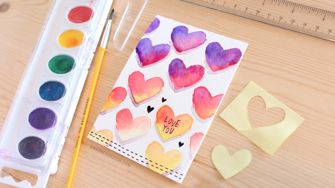 Easy DIY Valentines Day Card Made with Minimal Supplies – Easy Valentine Card
