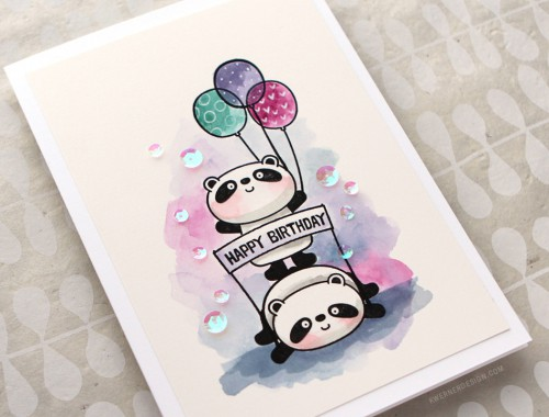 Happy Birthday Pandas! 30 Day Coloring Challenge Blog Hop
