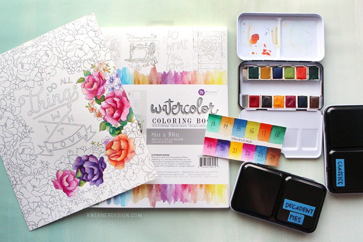 New Watercolor Pan Sets from Prima & Coloring Book Review
