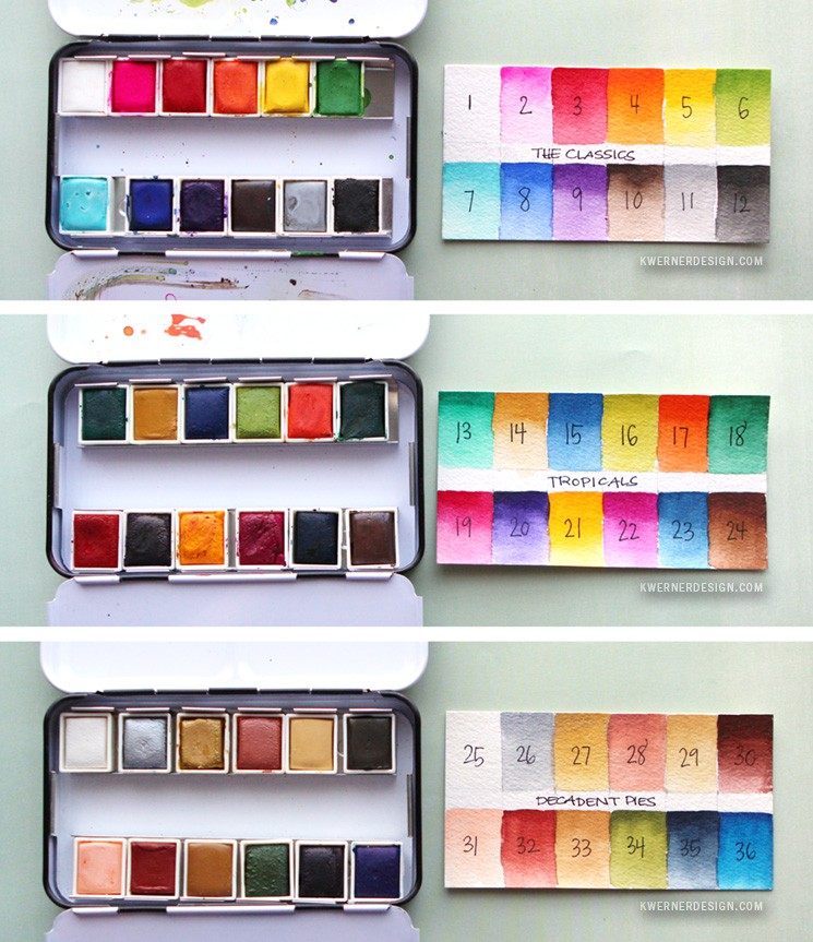 prima watercolor confections swatches