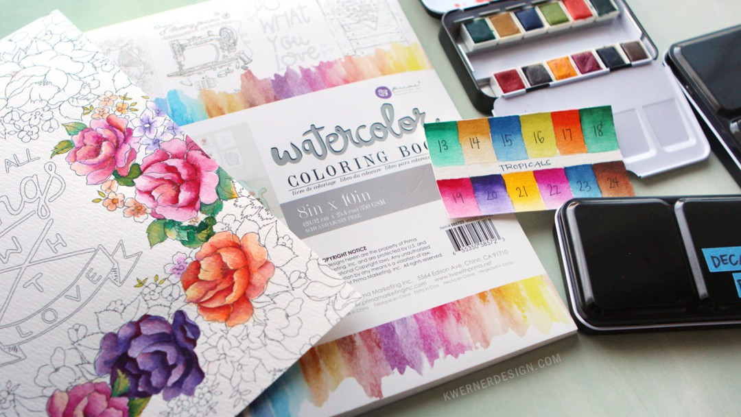 New Watercolor Pan Sets from Prima & Coloring Book Review ...