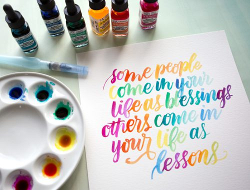 Watercolor Lettering with Dr. Ph. Martin's Radiant Concentrated Water Color