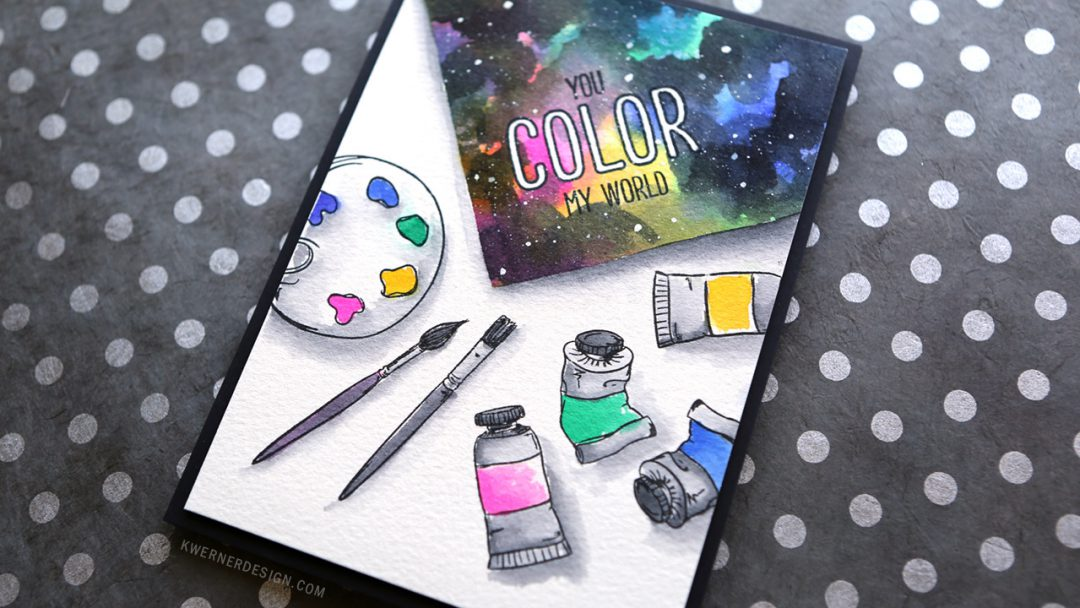 Painting a Watercolor Galaxy (Rainbow Challenge Tag)
