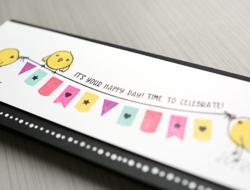 Celebration Card - Using Only 1 Stamp Set (plus a crafty update)
