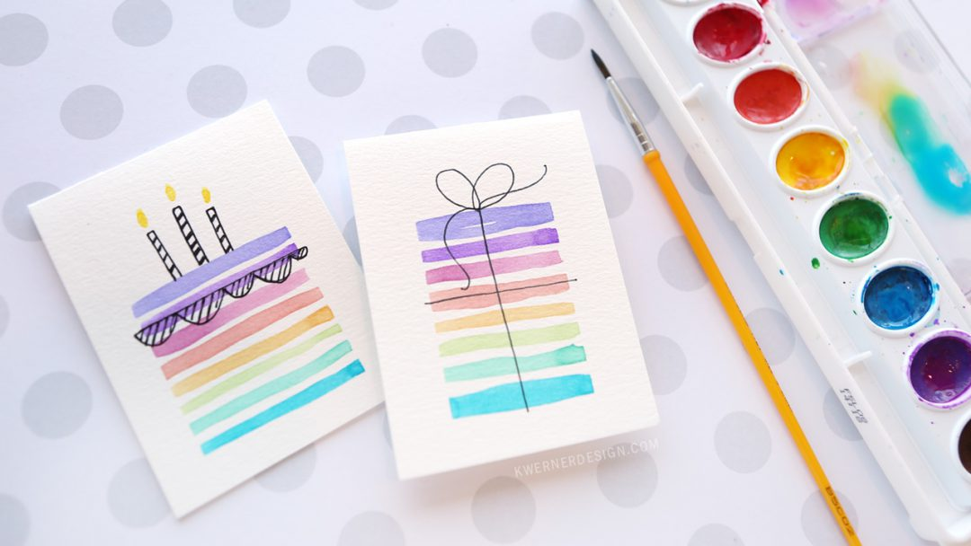easy diy birthday cards using minimal supplies  kwernerdesign blog, Birthday card
