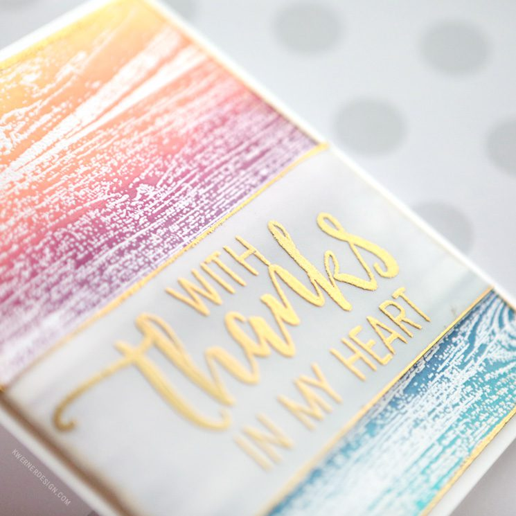 Quick & Easy Ink Blended Card with Heat Emboss Resist + GIVEAWAY!
