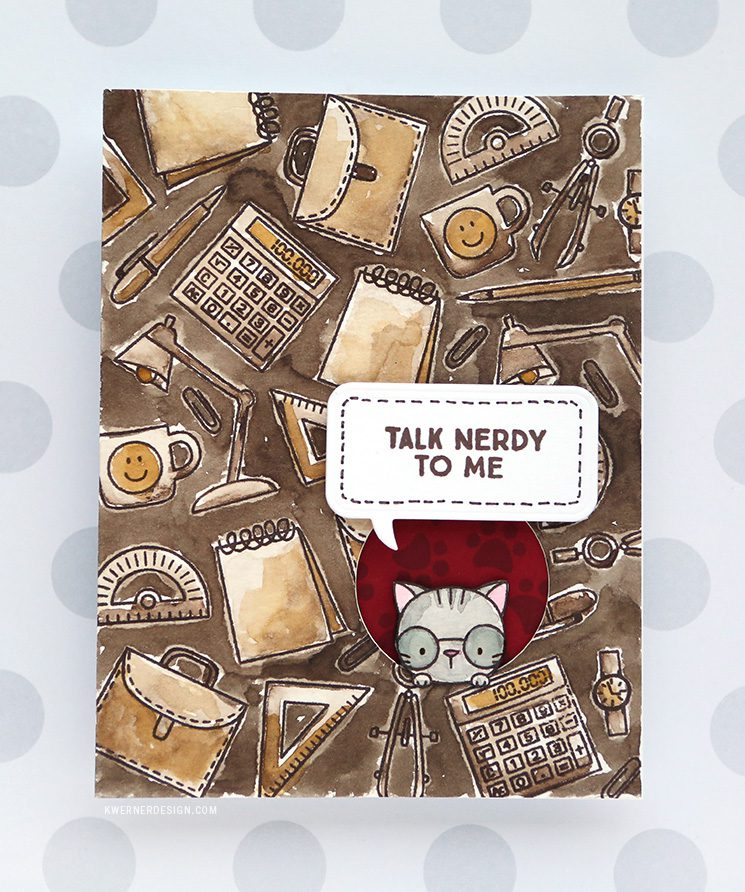 Talk Nerdy to Me! Inside Out Window Card with Watercolor