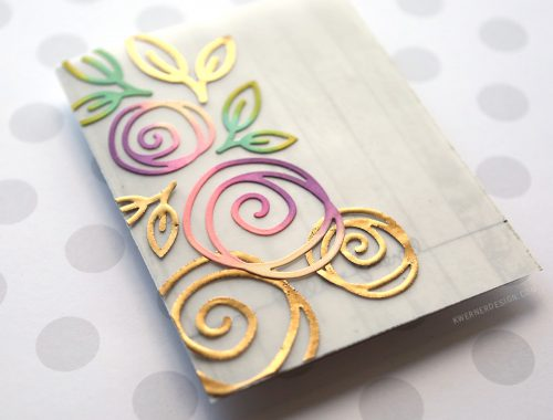 Tri-panel Vellum Card with Floral Diecuts