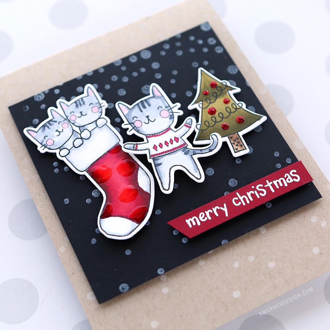 Who can resist Christmas kitties?! Day 6 of the kwdesignhcs2016hellip