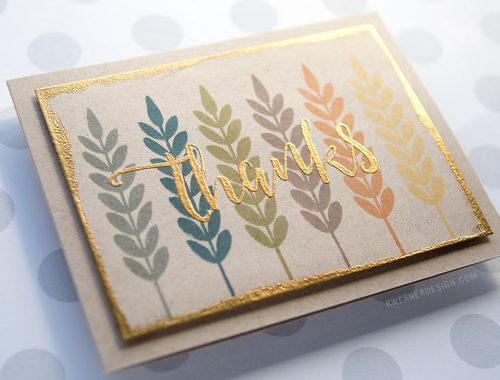 Autumn Colors Thank You Card + September 2016 Mail Call (Halloween Cards)
