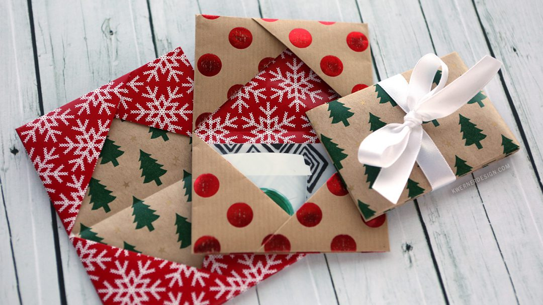 Holiday Card Series 2016 - Day 5 (Gift Card Holder Made From Wrapping Paper)