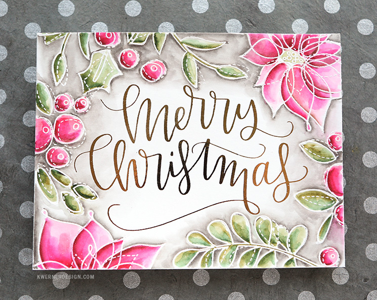 Holiday Card Series 2016 - Day 12 (DIY Foil + stamping)