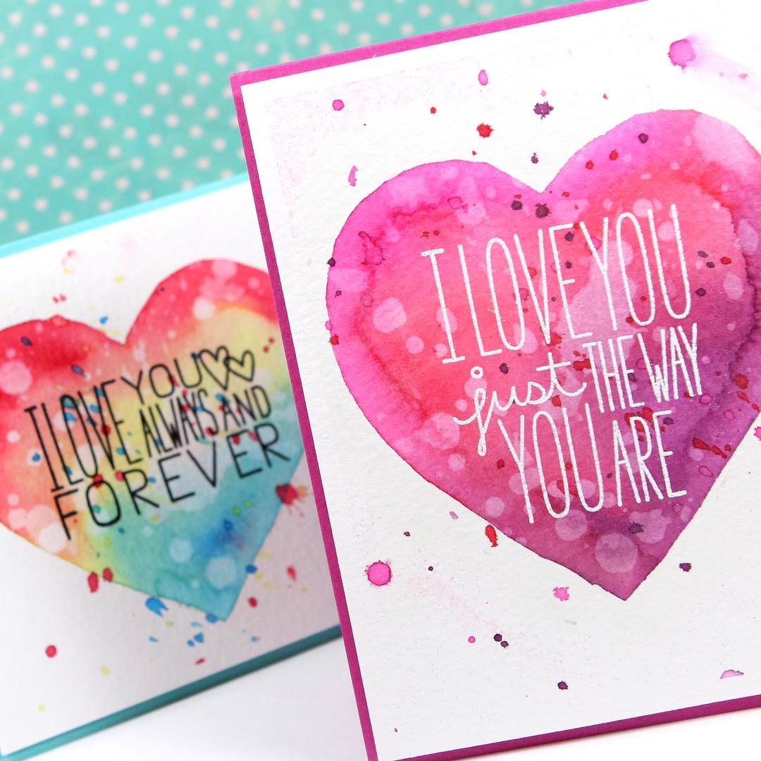 Remember these colorful Valentines Day cards from a couple yearshellip