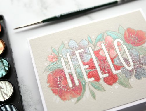Watercoloring with Finetec Pearl Shimmer Paints
