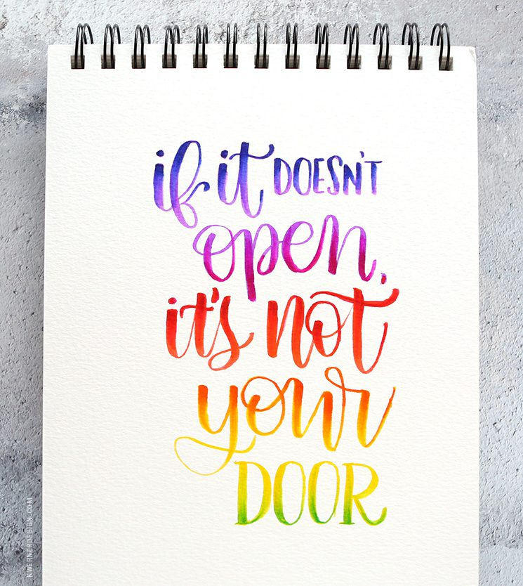 more brush lettering blending with tombow markers answers to your