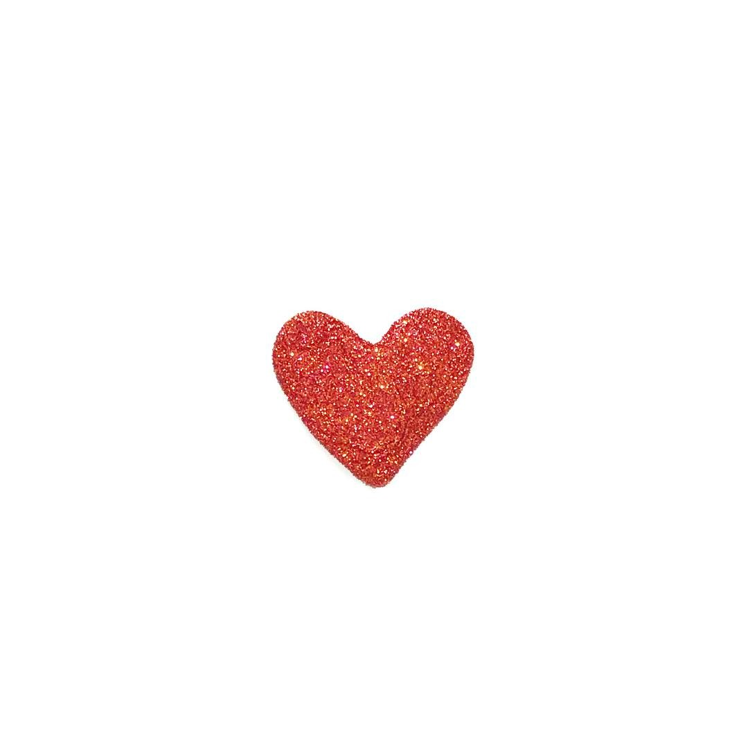 Just a red glittery heart Because I want to Andhellip