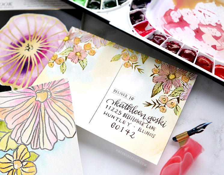 Trying out the Prima Foil Watercolor Coloring Book – kwernerdesign blog