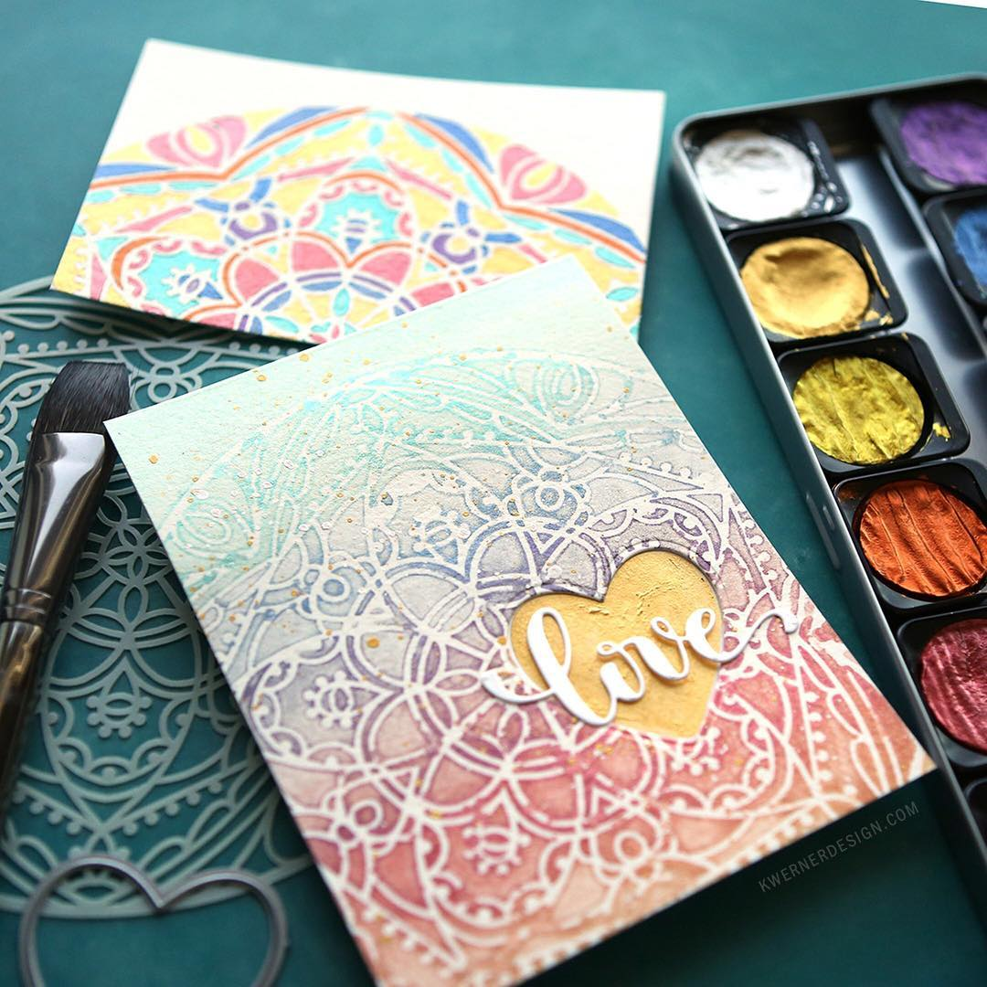 Have you ever wondered about watercoloring through a stencil? Ihellip