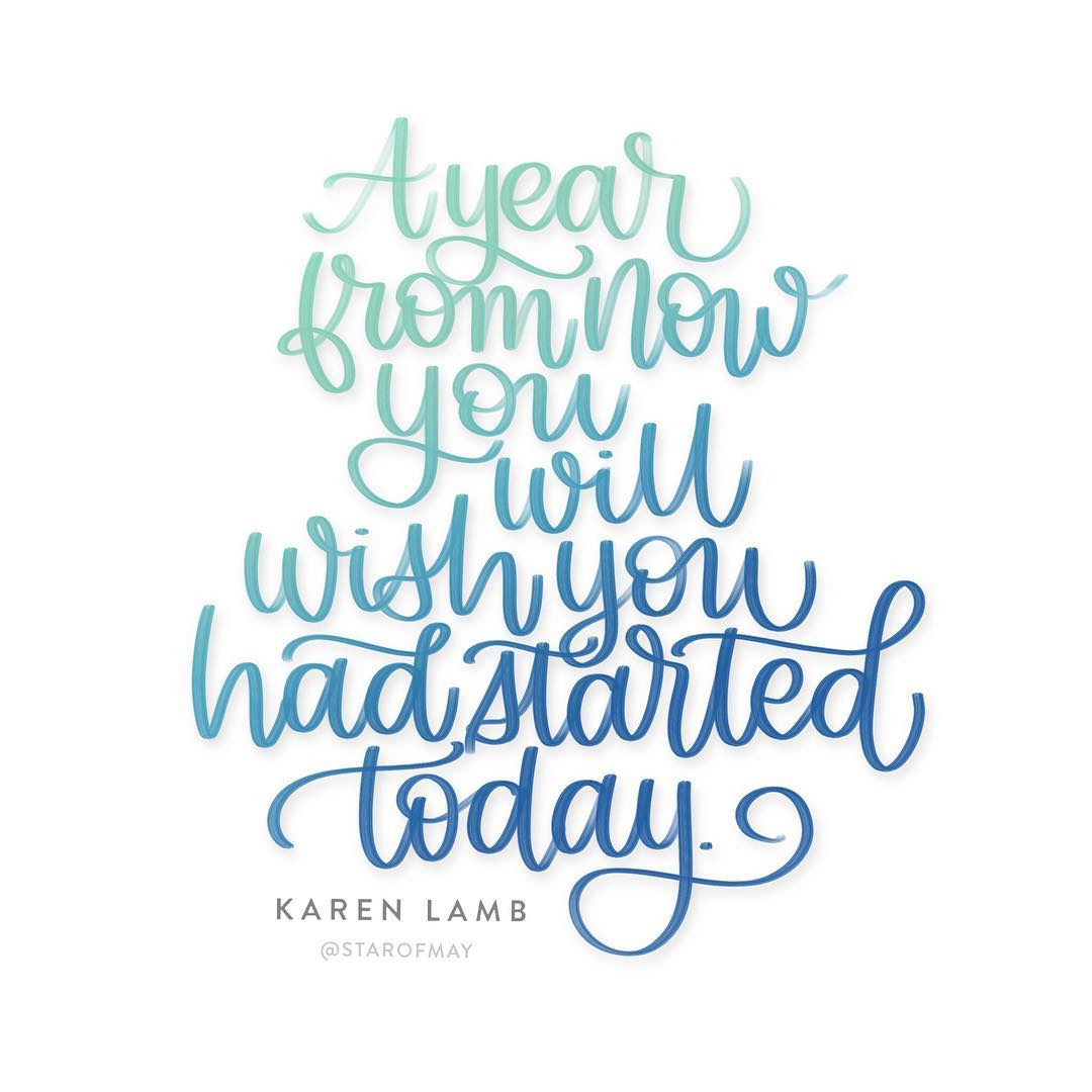 Today is a good day to start kwdesignlettering ipadlettering ipadproletteringhellip