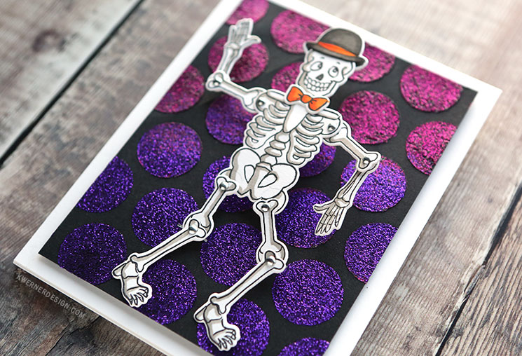 FUN HALLOWEEN SKELETON CARD ? How to Use the Wiggle Wobble Sets from Art Impressions