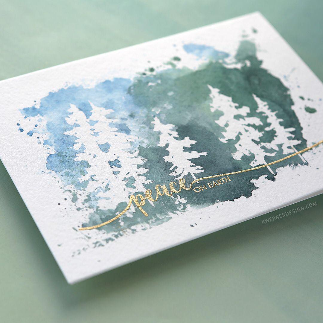 I totally love the idea of masking fluid trees andhellip