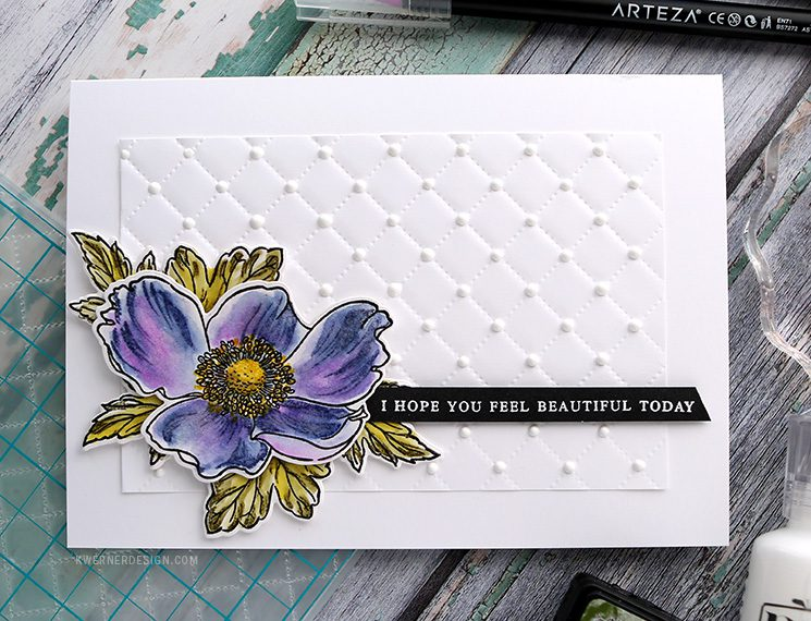 Watercoloring with Builder Stamp Sets + GIVEAWAY!