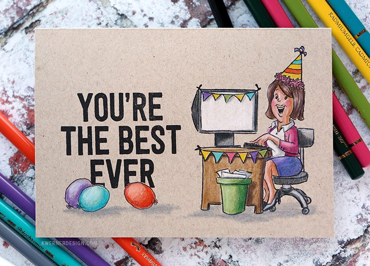 Co-Worker Birthday Card – Art Impressions Week Day 2