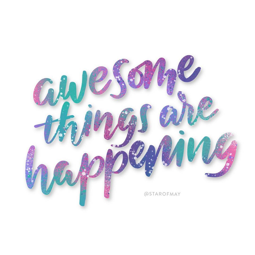 Going to be a good week! kwdesignlettering procreate procreatelettering