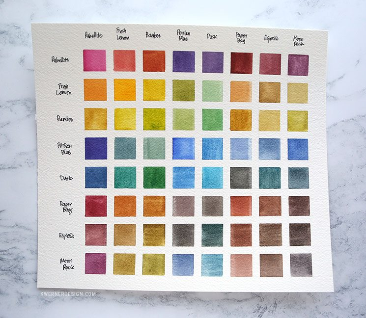 Watercolor Week You Need A Color Mixing Chart Altenew Watercolors